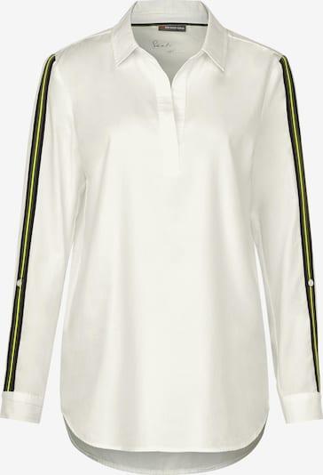 STREET ONE Bluse in neongelb / schwarz / weiß, Produktansicht