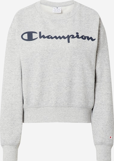 Champion Authentic Athletic Apparel Sweatshirt in de kleur Navy / Grijs gemêleerd: Vooraanzicht