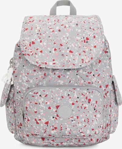 KIPLING Rucksack 'City' in grau / rosa / rot / weiß, Produktansicht