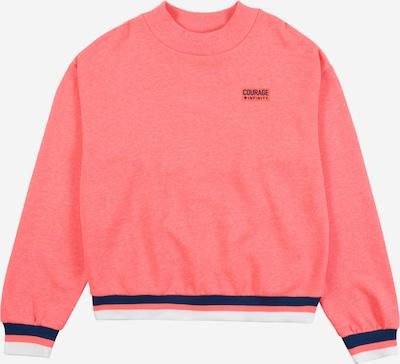 STACCATO Sweatshirt in dunkelblau / lachs / weiß: Frontalansicht