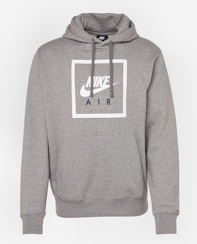 Nike Sportswear Mikina 'PO HOODIE NIKE AIR 5' - tmavě šedá / bílá, Produkt