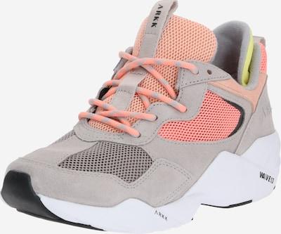 ARKK Copenhagen Sneakers laag 'Kanetyk Suede W13' in de kleur Beige / Grijs / Neonoranje, Productweergave