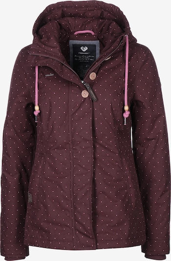 Ragwear Jacke 'Lynx Dots W' in burgunder, Produktansicht