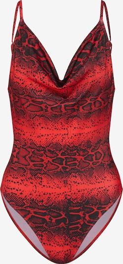 Missguided Strój kąpielowy 'NECK HIGH LEG SWIMSUIT ' w kolorze czerwonym, Podgląd produktu