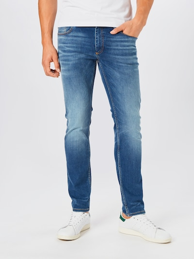 Lindbergh Jeans in blue denim: Frontalansicht