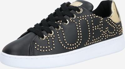 GUESS Baskets basses 'RAZZ' en or / noir / blanc, Vue avec produit