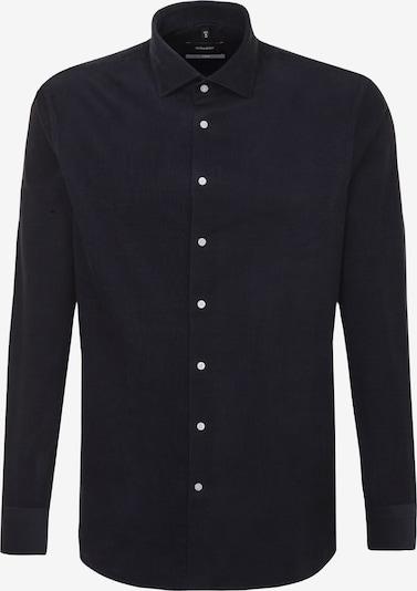 SEIDENSTICKER Zakelijk overhemd in de kleur Kobaltblauw: Vooraanzicht