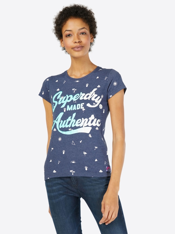 Superdry T-Shirt 'MADE AUTHENTIC AOP ENTRY'