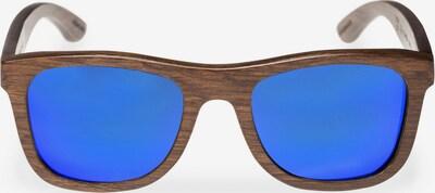 WOOD Fellas Sonnenbrille mit 'UV 400 Sonnenschutz' in blau / braun, Produktansicht