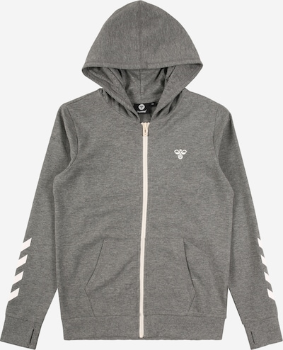 Hummel Sweatjacke 'Pless' in graumeliert / weiß, Produktansicht