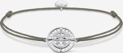 Thomas Sabo Armband 'Little Secret Kompass Glaube, Liebe, Hoffnung, LS078-401-5-L20v' in dunkelgrau / silber, Produktansicht