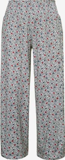 Ulla Popken Pantalon en bleu / rouge / noir / blanc, Vue avec produit