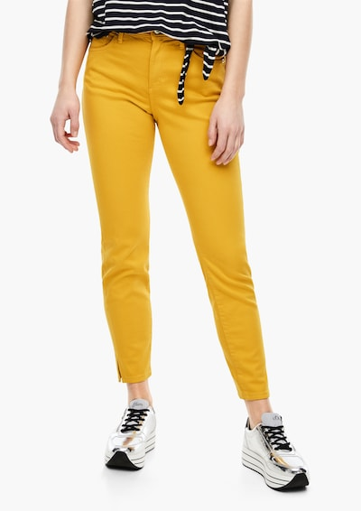 s.Oliver Stretchjeans in gelb, Modelansicht