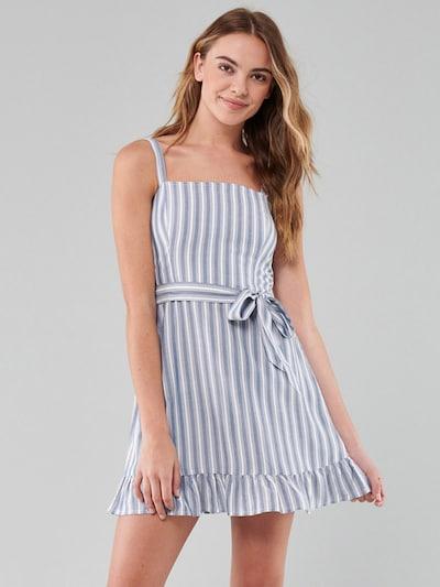 HOLLISTER Letní šaty - světlemodrá / bílá, Model/ka