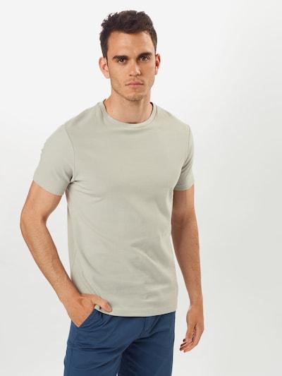 BURTON MENSWEAR LONDON T-Shirt 'Frost Grey Waffle Textured' en gris: Vue de face