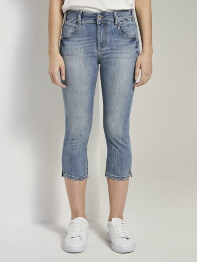 TOM TAILOR Jeanshosen Kate Slim Capri-Jeans in blau: Frontalansicht