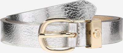 TOMMY HILFIGER Ledergürtel 'OVAL BUCKLE BELT 2.5' in silber, Produktansicht