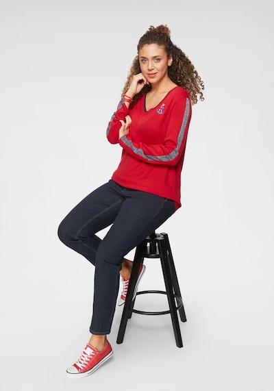 Tom Tailor Polo Team Polo Team V-Ausschnitt-Pullover in rot, Produktansicht