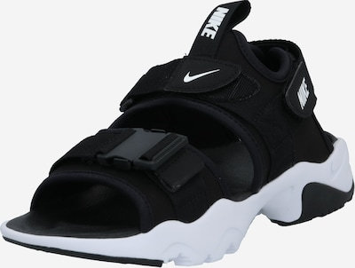 NIKE Trekinga sandales 'Canyon' melns / balts, Preces skats