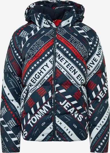 Tommy Jeans Winterjas in de kleur Navy / Rood / Wit, Productweergave