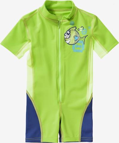 HYPHEN Schwimmanzug in dunkelblau / apfel / hellgrün, Produktansicht