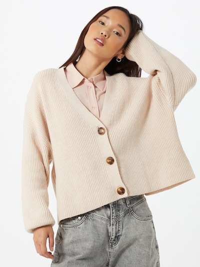 ABOUT YOU Strickjacke 'Kimberly' in beige: Frontalansicht