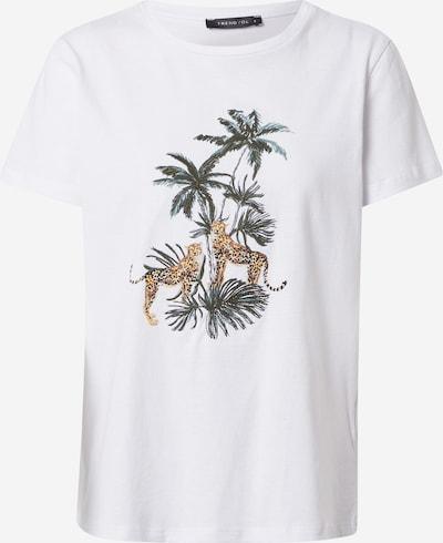 Tricou Trendyol pe culori mixte / alb: Privire frontală