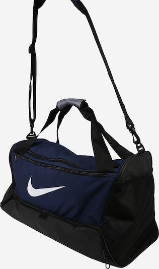 NIKE Sportovní taška 'BRSLA M DUFF - 9.0' - námořnická modř / bílá: Pohled ze strany