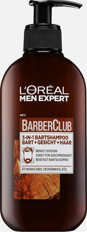 Loréal Paris Men Expert Barber Club 3-in-1 Shampoo Discloses Disclosed, Face And Hair, Beard Care