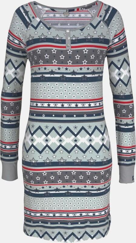 BENCH Nachthemd im Norwegermuster mit Sternen