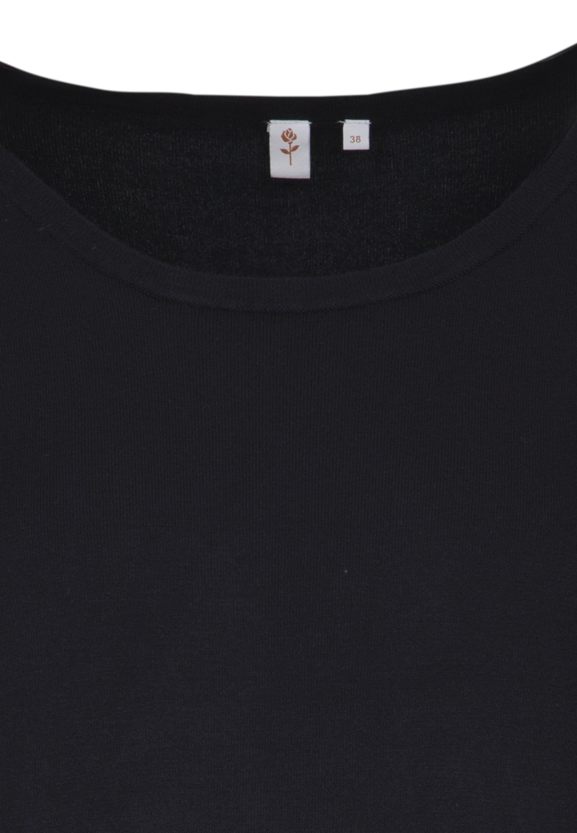 'schwarze En Rose' Bleu Pull Seidensticker over VMSpzqU
