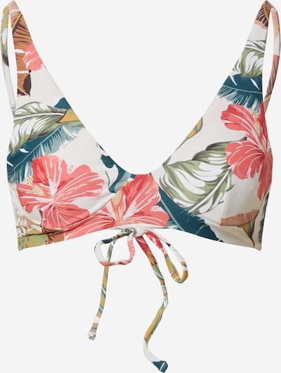 Bikinio viršutinė dalis 'TROPIC COAST' iš RIP CURL , spalva - žalia / mišrios spalvos / abrikosų spalva / rožių spalva / balta, Prekių apžvalga