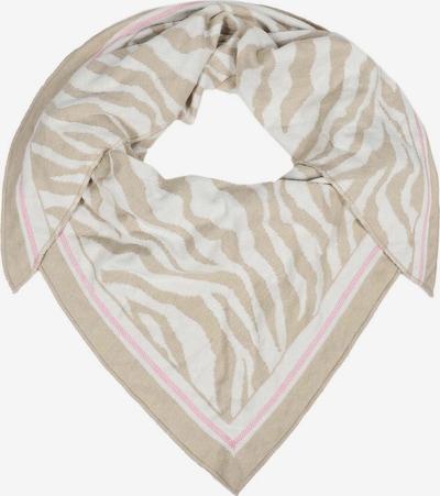 Fular 'Dreieckstuch Zebra ' Zwillingsherz pe bej / roz / alb, Vizualizare produs