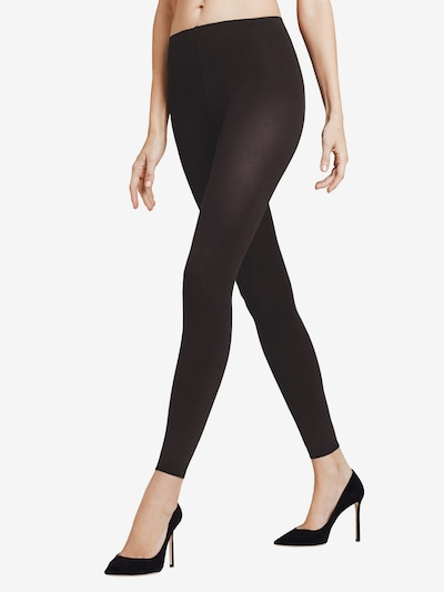 FALKE Leggings 'Pure Matt 100 DEN' in schwarz: Frontalansicht