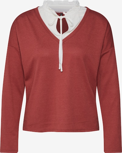 ONLY Pullover 'ASHLEY' in rot / weiß, Produktansicht