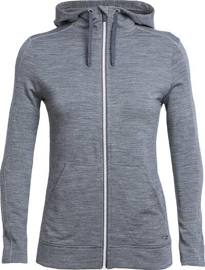 Icebreaker Sweatshirt ' Wmns Dia LS Zip Hood ' in grau, Produktansicht