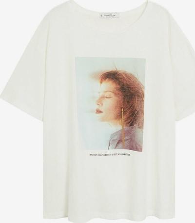VIOLETA by Mango T-Shirt 'Chic' in weißmeliert, Produktansicht