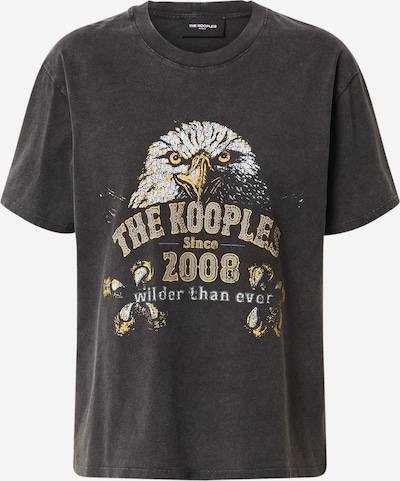 The Kooples Shirt in de kleur Donkerbeige / Zwart / Wit, Productweergave