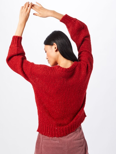 Pulover 'INES LS' ICHI pe roșu: Privire spate