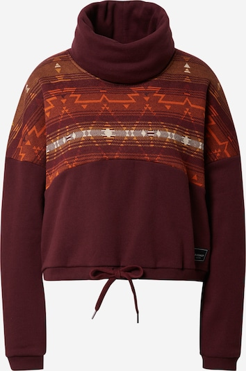 Iriedaily Sweatshirt 'Sekani Mock' in orange / dark orange / wine red / white, Item view