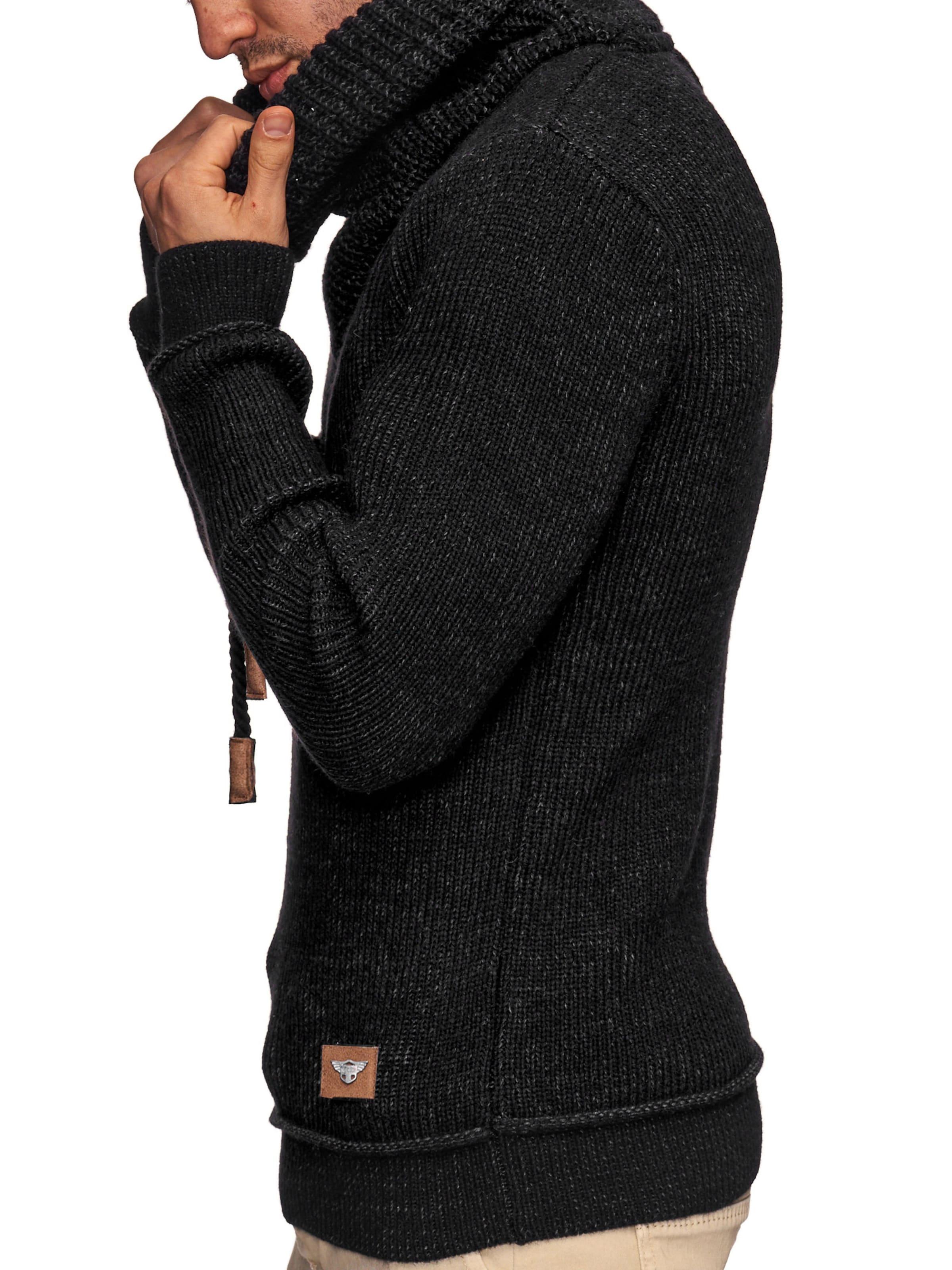 Jeans Indicode En over Noir 'keshawn' Pull zGMSqUpLV