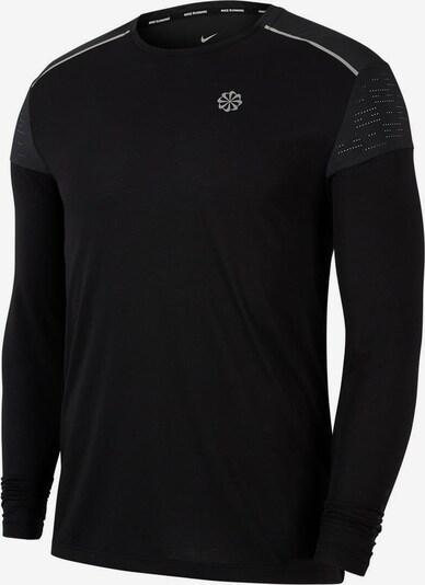 NIKE Laufshirt 'Rise 365' in schwarz / weiß, Produktansicht