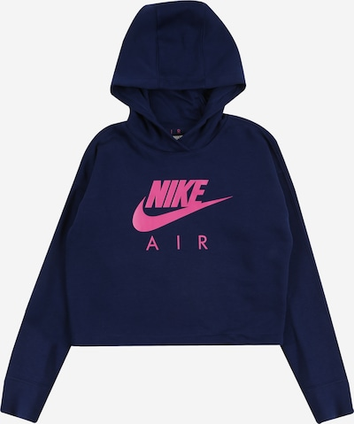 Nike Sportswear Sweatshirt 'AIR CROP' in navy / pink, Produktansicht