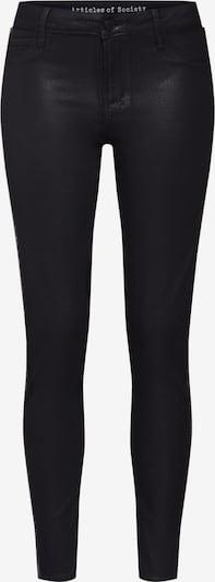 Articles of Society Broek 'Sarah Ankle Skinny Mist' in de kleur Zwart / Zilver, Productweergave