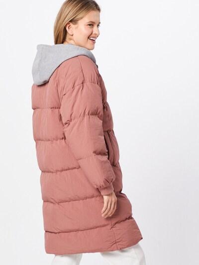 Missguided Zimski plašč 'Longline Puffer Jacket' | roza barva: Pogled od zadnje strani