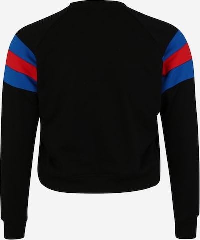 Urban Classics Sweat-shirt en bleu / rouge / noir: Vue de dos