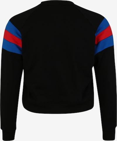 Urban Classics Curvy Sweat-shirt en bleu / rouge / noir: Vue de dos
