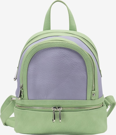 Rucsac MYMO pe verde pastel / mov liliachiu, Vizualizare produs