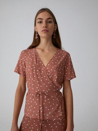 EDITED Bluse  'Irie' in braun, Modelansicht