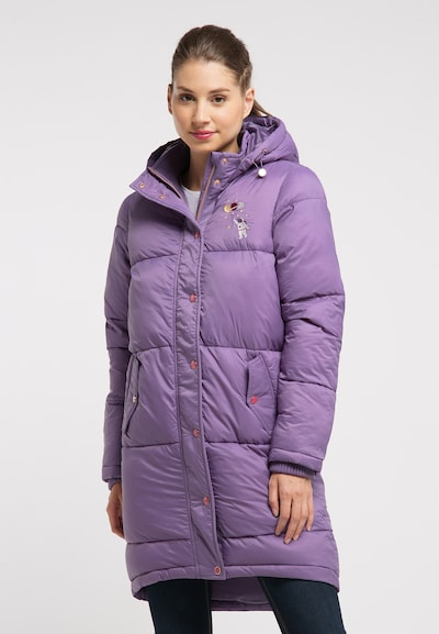 MYMO Winter Coat in Purple, View model